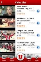 Screenshot of University of Utah