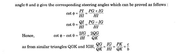 The Ackermann Principle as Applied to Steering (Automobile)