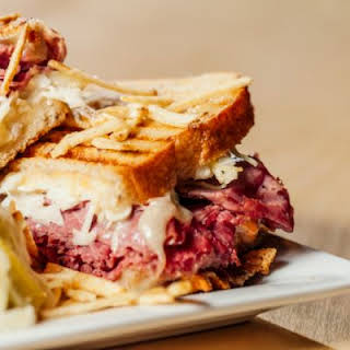 Corned Beef and Cabbage Sandwiches.