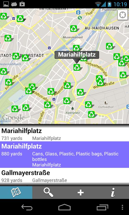 Find Recycling - screenshot