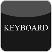 Black & White Glass Keyboard