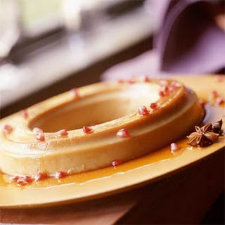 Pumpkin Flan with Caramel-Anise Syrup Recipe
