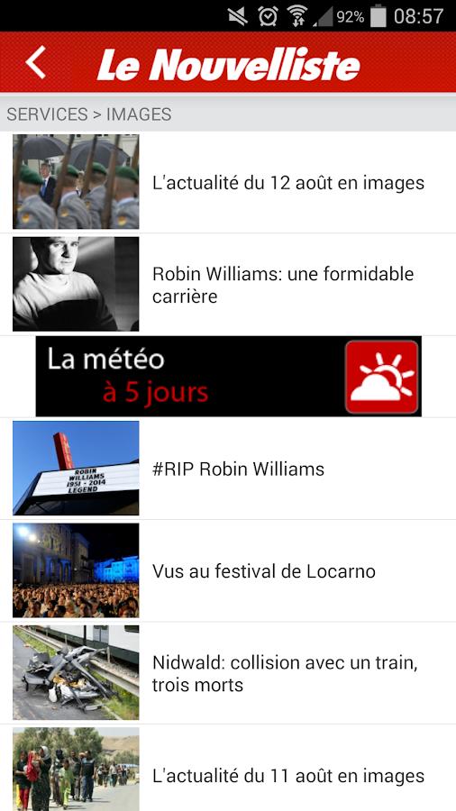Le Nouvelliste en continu - screenshot