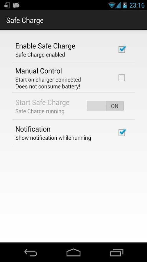 Safe Charge - screenshot