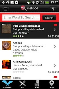MeFood Application - screenshot thumbnail