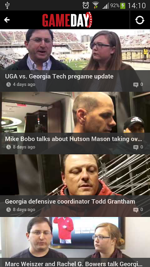 UGA Gameday- screenshot