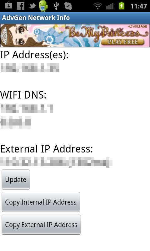 AdvGen Network Info- screenshot