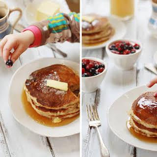 Fluffy Banana Oat Pancakes.