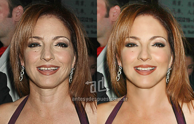 Gloria Estefan sin Photoshop