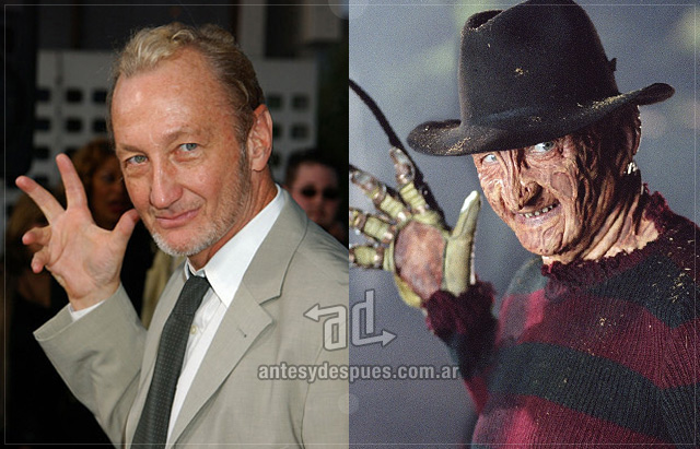 Robert Englund behind the mask