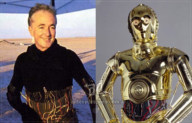 Anthony Daniels behind the mask