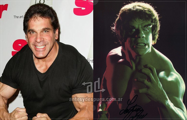 Lou Ferrigno behind the mask