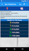 Screenshot of DC Metro Transit