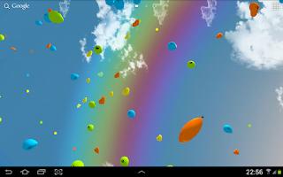 Screenshot of Balloons 3D live wallpaper