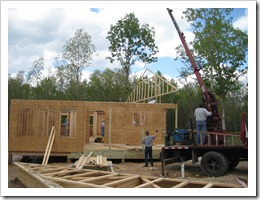 Building The Homestead Trusses And Roof Decking Started