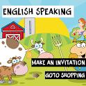 English speaking conversation icon