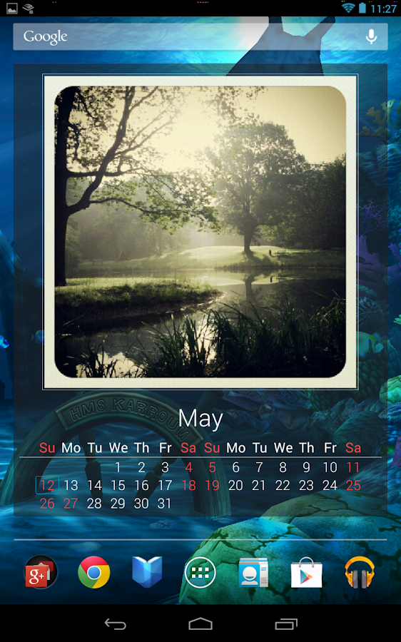 Photo Calendar Widget Free- screenshot