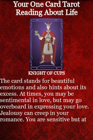 Tarot Card Reading - screenshot