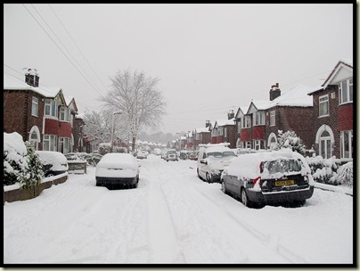 Our street on 5 January 2010
