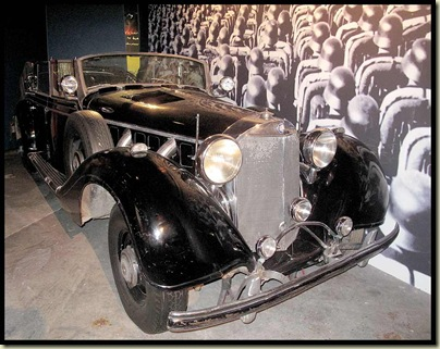 A parade car used by Hitler