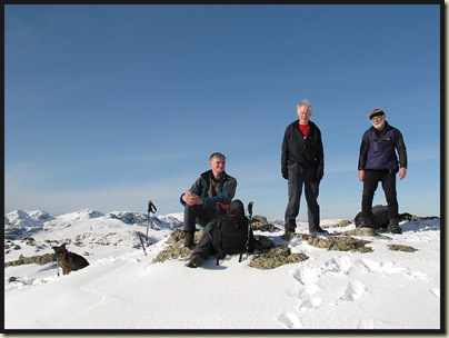 On Wetherlam's summit - 762 metres