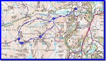 Our route - 13 km, 985 metres ascent, in just over 7 hours