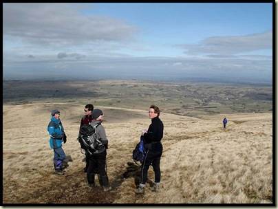 Waiting for our leader on the ascent of High Pike