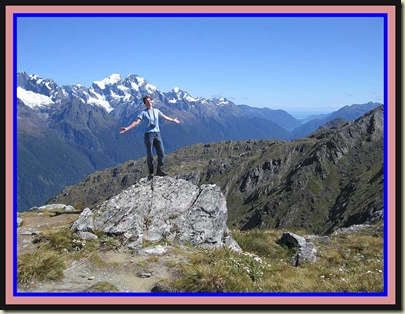 Near the summit of Conical Hill - 1515 metres, just off the Routeburn Track