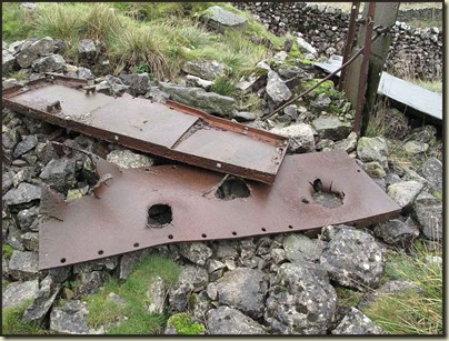 Debris from wartime tank testing, according to Mike