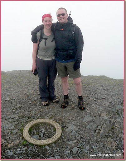 Jamie and Nicky on the summit of Blencathra