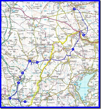 Our route - 21km, 650 metres ascent, 6.8 hours