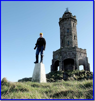On the trig point by Darwen Tower