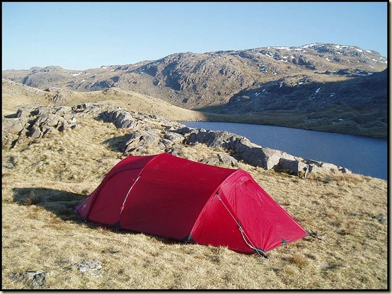 Wild camping by Sprinkling Tarn