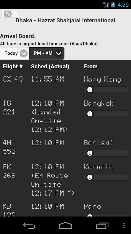 Bangladesh Flight Live- screenshot