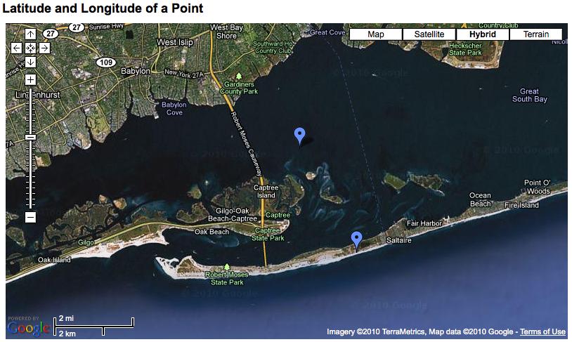 Google Maps Fire Island Ny