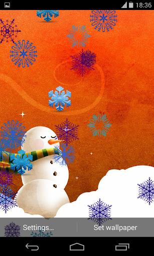 Funny Christmas Snowman LWP