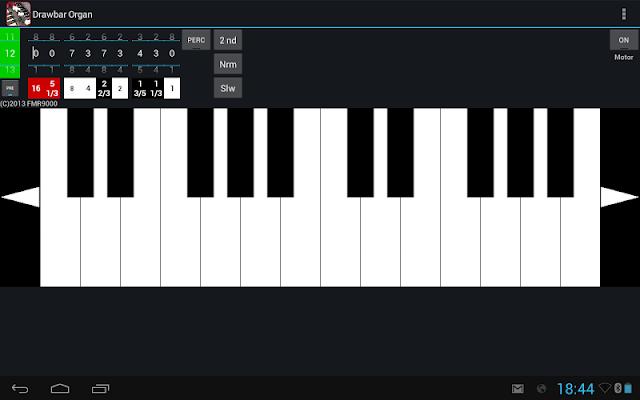 Drawbar Organ Demo - screenshot