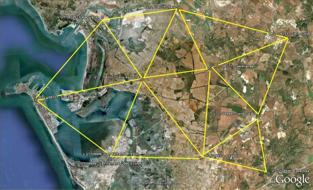 Triangulación de vértices geodésicos
