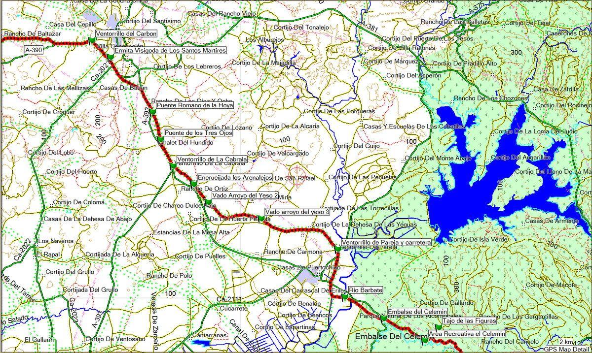 Tramo II Corredor Verde Dos Bahias (click sobre el mapa)