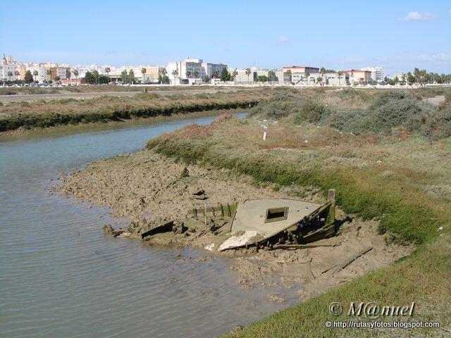 Caño del Carrascón - Salina San Judas - Caño de Sancti Petri