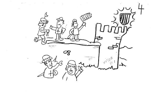 Dibujos Para Colorear Moros Y Cristianos