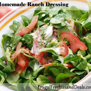 Homemade Ranch Dressing.