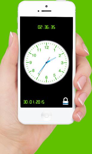Analog Clock Screen Lock