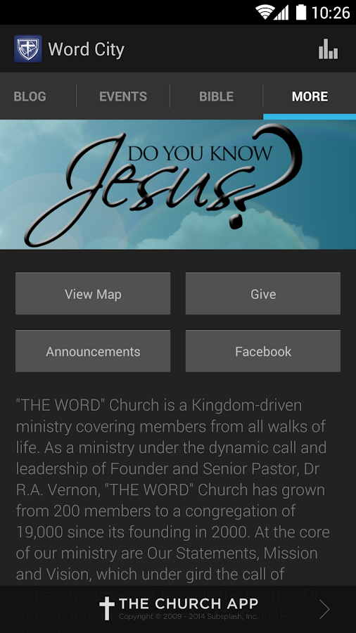 """THE WORD"" Church - screenshot"