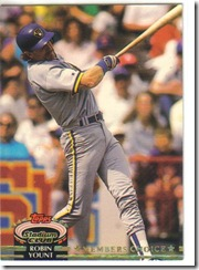 Robin Yount Topps Stadium Club 92