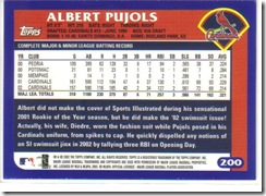 Card 34 Albert Pujols Back