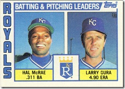 Batting & Pitching Leaders Topps 84