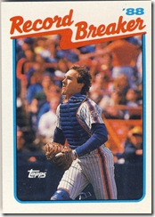 1989 Topps Gary Carter Record Breaker