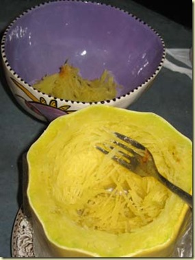 Voted with Our Forks Spaghetti Squash