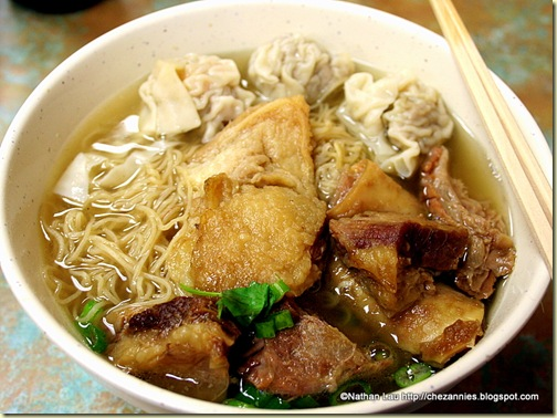 Stewed Beef Brisket and Won Ton Noodle Soup from Gum Kuo (Oakland)